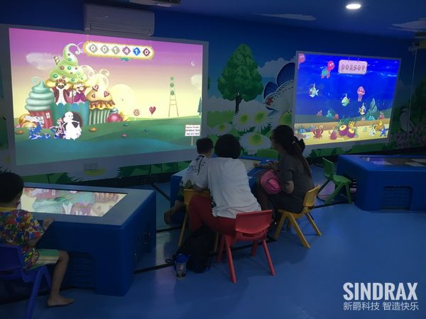 kidsland indoor playground interactive projection game